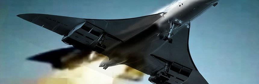 Catástrofes aéreas, el primer avión supersónico de pasajeros, el vuelo 4590 del Concorde, cayó envuelto en llamas.