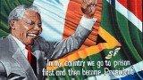 Nelson Mandela como presidente electo de Sudáfrica. Brillante e iluminado.